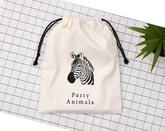 set of 50 custom Logo printed drawstring pouches personalized drawstring bags custom party favor bags cotton jewelry gift packaging bags