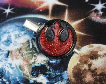 Glitter Resin Star Wars Rebel Hairclip