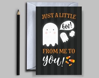 Cute Ghost Halloween Card