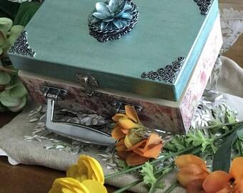 Rose box mixed media