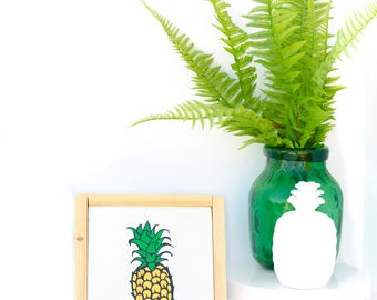 Unique Pineapple Gifts - Yellow Fruit - Unique Pineapple - Tropical Fruit Art