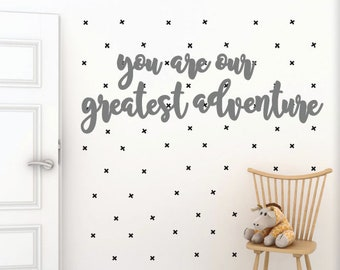 Children's You Are Our Greatest Adventure Word Wood Cut Out Wall Decor
