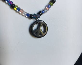Black and multicolored necklace