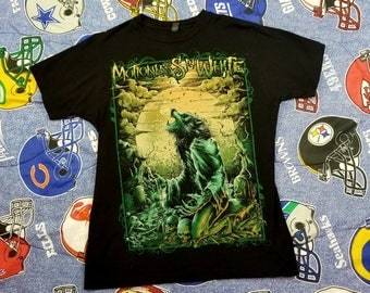 Motionless In White T-shirt Medium Black Rockabilia Metal Wolf Man Graveyard Full Moon