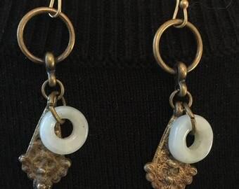 Jade ring earrings