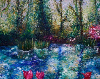 Oil Painting of Giverny Gardens