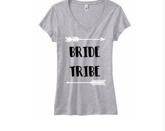 Bride Tribe V-Neck T-Shirt