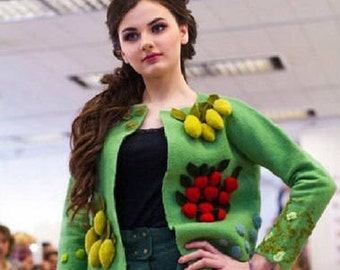 """Felted jacket """"Fruit"""""""