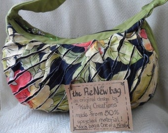 Recycled /canvas hobo bag