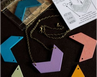 "Kit DIY ""Necklace WOOD"" wood (choose colors!)"