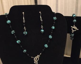 Necklace Earrings & Bracelet