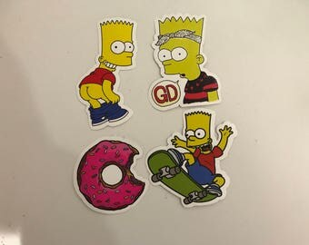 The Simpsons Stickers Pack of 4