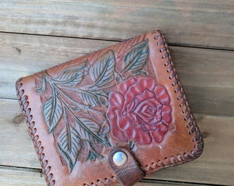 Vintage Hand Tooled Leather Wallet | Hand Tooled Accessories | Bohemian Wallet