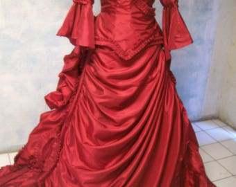 bram stokers DRACULAS iconic VICTORIAN bustle DRESS sz 14