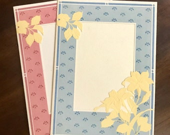 Vintage Floral Photo Frame Current Greeting Card