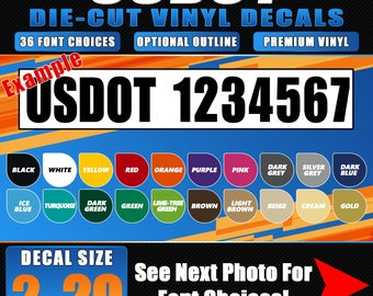 USDOT Die-Cut Vinyl Decals Pair