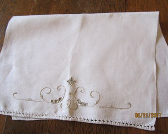 Antique Hand Embroidered Hand Towel