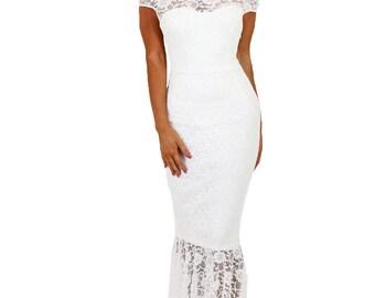 Elegant Lace Maxi Dress 50504