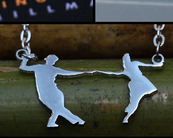 LINDY / SWING DANCE Couples Necklace Fig #1  , dance jewelry , fashion jewelry, dance accessories, fashion accessories, chains, pendants,