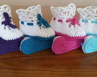 baby booties 100% cotton girl boy