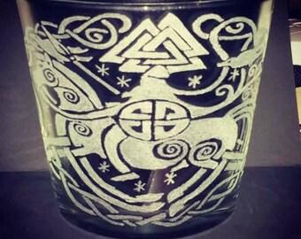 Glass large candle vase