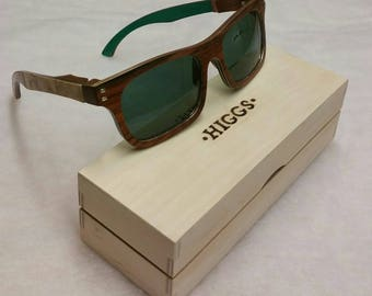 Men's Wooden Sunglasses, box and micro-fibre cloth