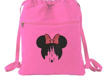 Disney Castle - Minnie Mouse - Disney Bag - Disney Tote - Disney Backpack - Personalized Bag