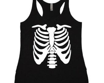 Rib Cage Skeleton Anatomy TRi-Blend Racerback Tank Top