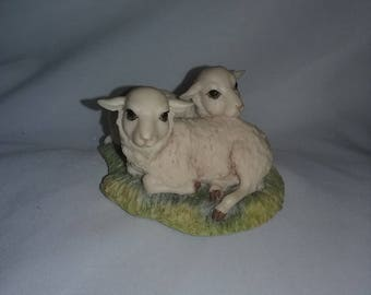 Lowell Davis Figurine 1981 IDLE HOURS Schmid # 225-230 RFD America Sheep Lamb,Scotland