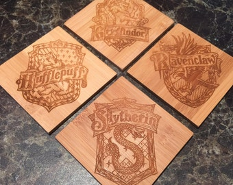 Harry Potter Inspired Coasters - Laser Engraved