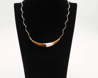 Tribal Lucite Horn Necklace