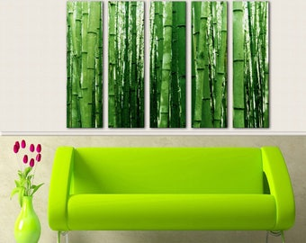 Bamboo Wall Art Canvas Print Wall Decor Canvas Wall Art Large Canvas Art  Set Home Decor