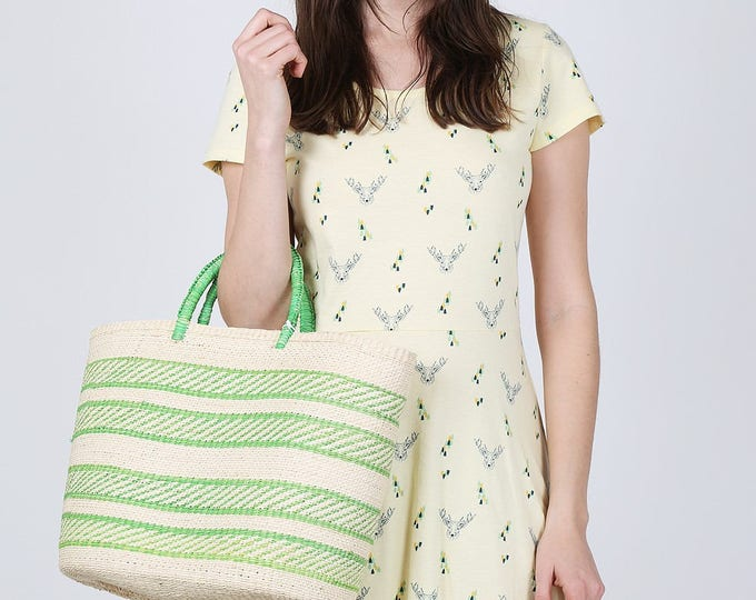 STRIPE GREEN BAG