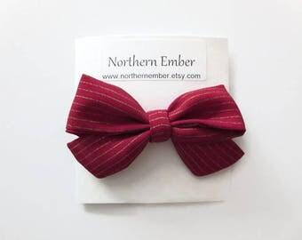 Sailor Bow Headband / Valentines Headband / Baby Girl Headbands / Nylon Headband / Baby Bows / Toddler Headband Baby Hair Bows / Sailor Bow