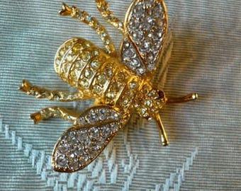 Kenneth Jay Lane bee brooch, 1990s