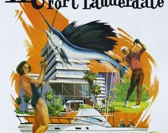 """Travel poster vintage """"Miami""""."""