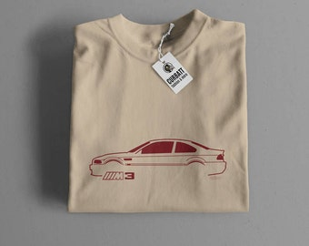 T-shirt BMW M3 E46 | Gent, Lady and Kids | all the sizes | worldwide shipments | Car Auto Voiture