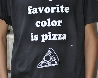 My favorite color is pizza Kids Tee Shirt