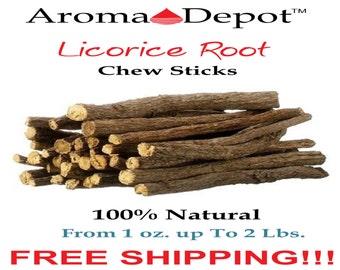 Licorice Root Chew Sticks 100% Natural Organic Liquorice 1 2 4 8 16 32 oz/Lb/Kg/g