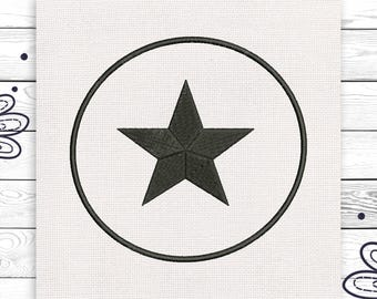 Star Discount 10% Machine embroidery design 4 sizes INSTANT DOWNLOAD EE5005