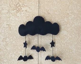 Halloween Bat & Stars Wall Hanger