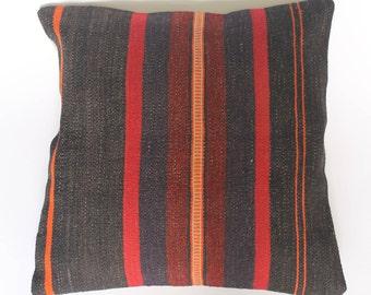 100% wool Kilim cushion covers in varied stripes pattern