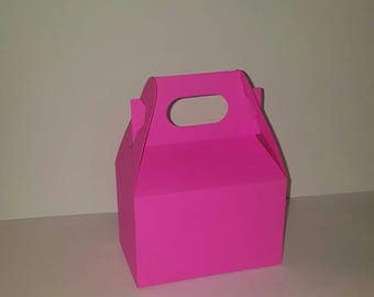 Hot Pink Favor Boxes - Blank Gable - Package of 10