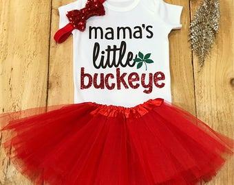 Buckeye onesie, ohio state onesie, ohio onesie, baby girl onesie, ohio state baby, onesie sets, buckeye outfit, custom onesie, ohio state