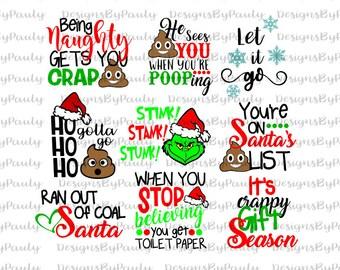 Christmas Toilet Paper Bundle svg Toilet Paper Svg, Let it go , Christmas Circle Vectors  files Christmas svg dxf DXF Merry Christmas