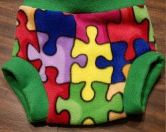 Autism Awareness Fleece Diaper Cover