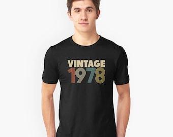 Vintage 1978 Short-Sleeve Unisex T-Shirt | 40th Birthday