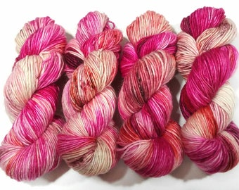 Hand Dyed Yarn: Hibiscus Tea - Willow Base {Merino/Alpaca/Silk, 275yd, 1 ply, DK/Light worsted} Suitable for knitting and crochet