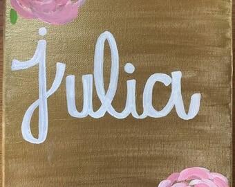 Name Canvas (Customizable)