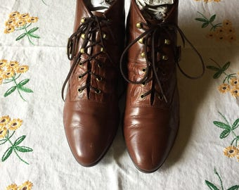 Vintage Foxy Leather Ankle Booties